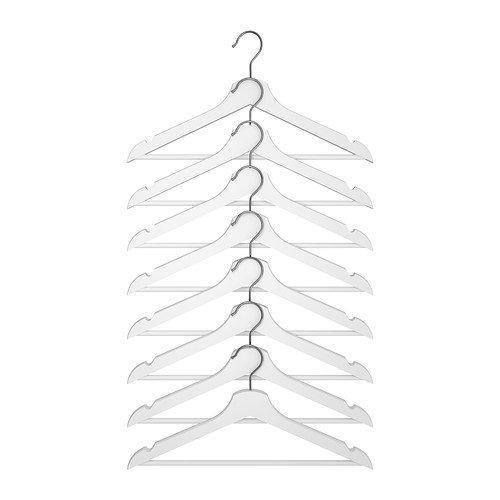 IKEA-Holzkleiderbgel-Bumerang-8-er-Pack-Bgel-aus-massivem-Holz-in-WEISS