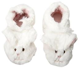 Robeez Fuzzy Bunny Slipper Crib Shoe (Infant), White, 18-24 Months M US Infant