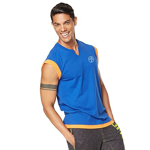 Zumba Fitness Bootcamp Muscle Maglia, Blu (Surfs Up Blue), M