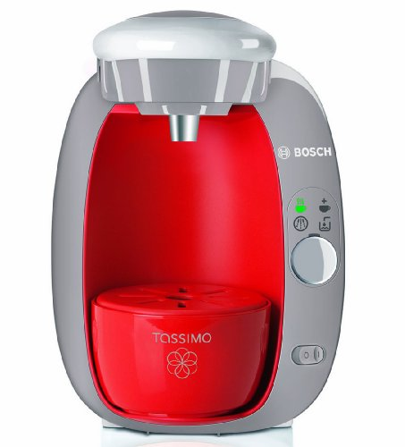 Bosch Tassimo T20 Beverage System and Coffee Brewer with Pack of T Discs, Strawberry Red