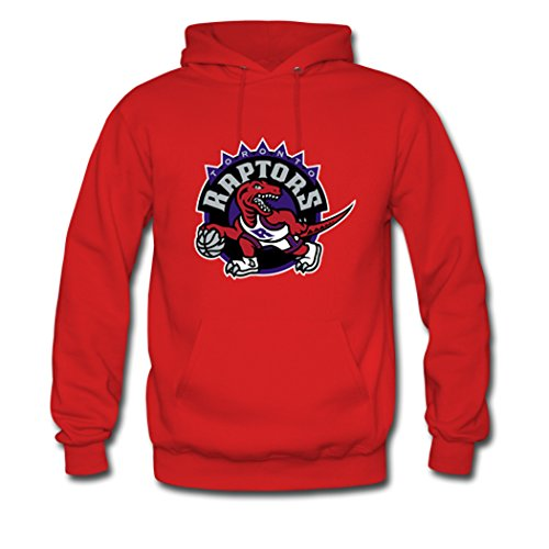 Custom Men Toronto Raptors Logo Hoodies Pullover Sweatshirt Medium Red