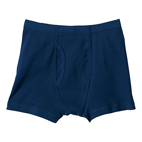 Hanna Andersson Little Boy Boxer Briefs In Organic Cotton, Size Xs (1 1/2-3 Years), Navy front-916043