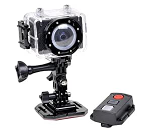 Actionpro 1080p Hd Video Action Sports Camera Camcorder with Waterproof Case& Remote Control. LCD Screen, Quick Release Buckle Mount, Free Gift Micro Sd Card 4gb, Cm-7200