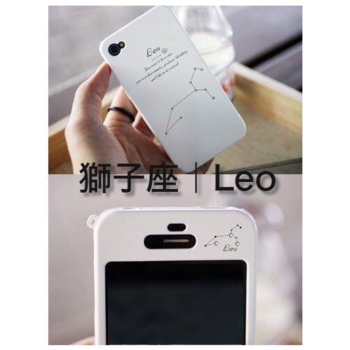 iphone5 ケース 星座シリーズ ホワイト クリスタルスター ストラップ掛け可能 液晶保護フィルム(両面クリア)、タッチペンなど付き 12星座 i5CASEP12 獅子座 Leo