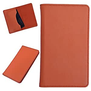 DCR Pu Leather case cover for Micromax A68 Smarty (orange)
