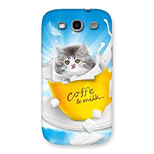 Enticing Coffee Kitty Back Case Cover for Galaxy S3 Neo