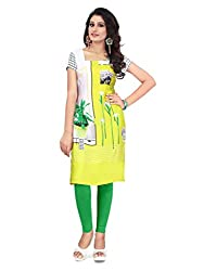 Women Icon Yellow Printed Semi-Stitched Kurti WICLE11489_XL