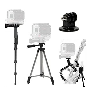 Complete Tripod Kit for the GoPro Hero, Hero2, Hero3 Cameras. Includes: 50