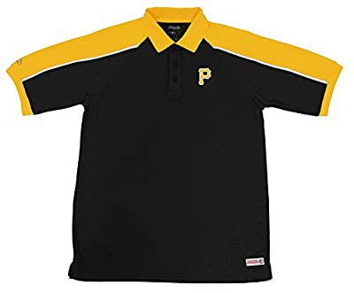 MLB Pittsburgh Pirates Color Blocked Polo with Lined Mini Mesh Panels