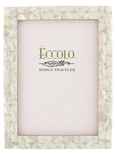Eccolo Naturals Frame, 8 by 10-Inch, Mother of Pearl White (Italian Horn Bone compare prices)