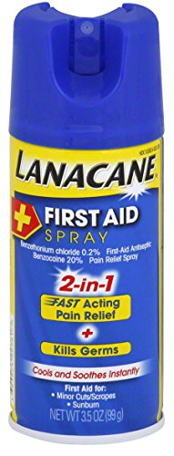 Lanacane First Aid Spray, Antiseptic & Pain Relief Spray for Cuts and Sunburns, 3.5 Ounce (Anti Itch Spray compare prices)