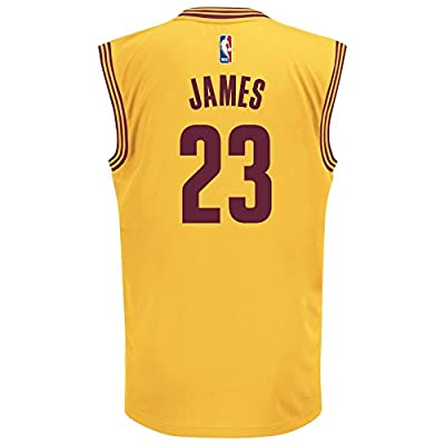 Cleveland Cavaliers LeBron James Gold Alternate Replica Youth Jersey