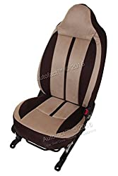Autofact Brand Suede / Buff Velvet Car Seat Covers for Maruti Car 800 Old Model in Coco and Dotted Beige Combination