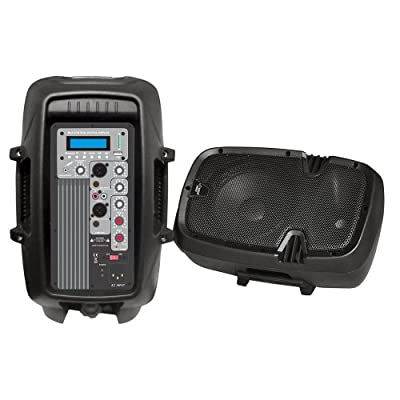 PYLE-PRO PPHP103MU 10-Inch 600 Watt Powered Two-Way PA Speaker with MP3/USB/SD Playback