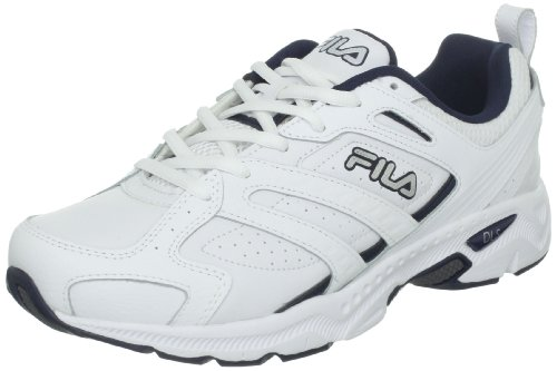 Fila Men's Capture Running Shoe,White/Peacoat/Metallic Silver,10.5 W US