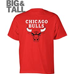 Big Man Chicago Bulls Big & Tall Logo T-Shirt by Majestic