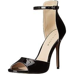 PleaserAmuse 14 - Scarpe con Tacco donna , Nero (Black (Blk Pat)), 43