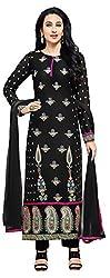 Mahaveer Fashion Women's Dress Material (9433_25_76015_Black_Free Size)