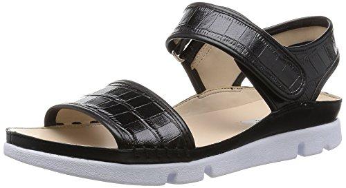ClarksTri Nova - Sandali con Cinturino alla Caviglia donna, colore nero (nero (black leather)), taglia 40