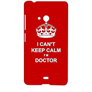 Skin4gadgets I CAN'T KEEP CALM I'm DOCTOR - Colour - Red Phone Designer CASE for MICROSOFT LUMIA 540