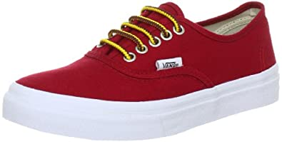 Vans  Authentic Slim Trainers Unisex-Adult  Red Rot ((Hiker) chili pepper) Size: 40.5