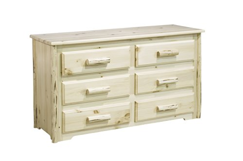 Montana Woodworks Collection 6-Drawer Dresser, Ready To Finish