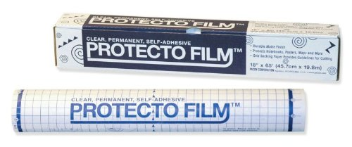 School Specialty Protecto Film - Clear - 24 inch x 33 feet
