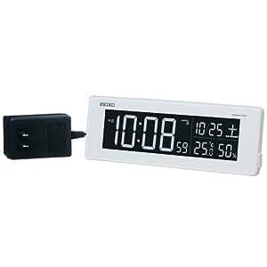 SEIKO CLOCK(セイコークロック) 交流式カラー液晶デジタル電波目覚まし時計(白) DL205W
