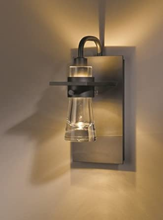 Hubbardton Forge Erlenmeyer Dark Smoke One Light Wall Sconce with