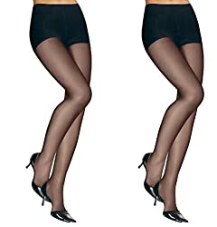 Cotson Sheer Black Pantyhose 20D (Pack of 2) Free Shipping & COD Available