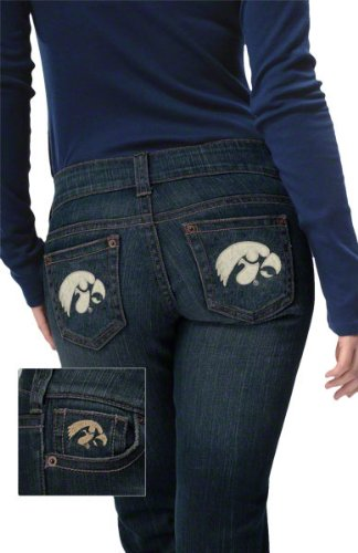 Iowa Hawkeyes Women's Denim Jeans - by Alyssa Milano at Amazon.com