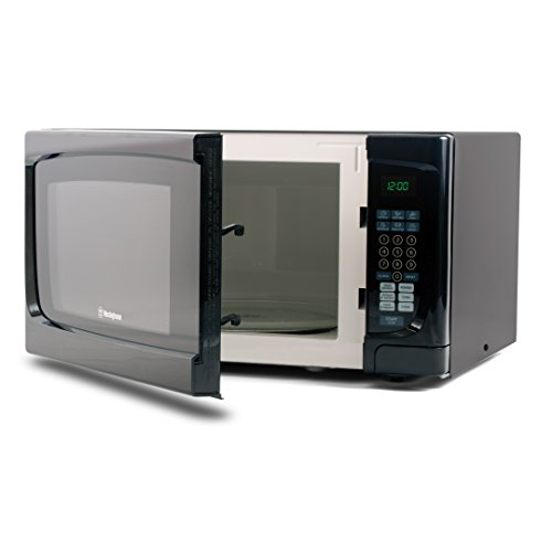 Westinghouse WCM16100B 1000 Watt Counter Top Microwave Oven, 1.6 Cubic Feet, Black Cabinet