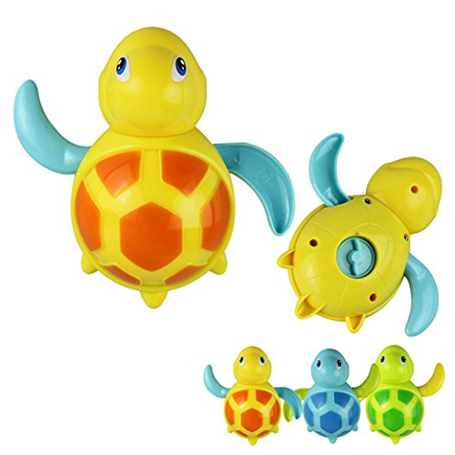 Voberry® New Born Babies Swim Turtle Wound-Up Chain Small Animal Bath Toy Floating Turtle Toy Classic Toys