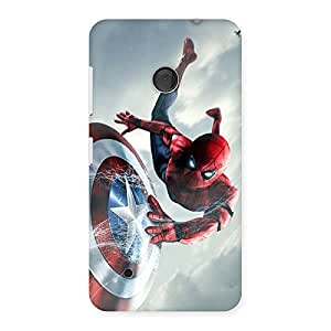 Cute web sheild Multicolor Back Case Cover for Lumia 530