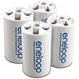 eneloop SEC-DSPACER4PK D Size Spacers for use with AA battery cells