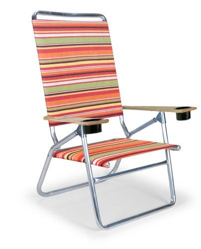 Telescope Casual Light 'N Easy High Boy Folding Beach Arm Chair With Cup Holders, Cantina