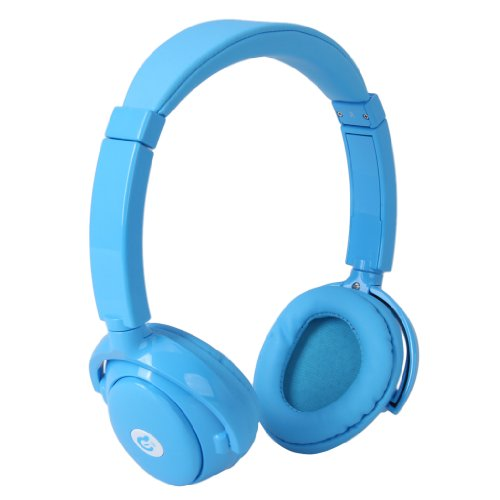 Syllable G01 Fashion Wireless Bluetooth Rechargeable Noise Cancelling Headphone Built-In Mic For Ipad, Iphone, Ipod Touch, Android Smart Phones, Tablets, Etc (Blue)