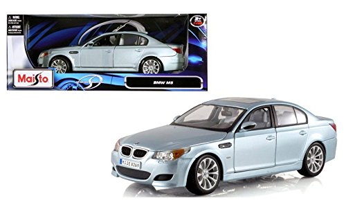 New 1:18 W/B SPECIAL EDITION - SILVER BMW M5 Diecast Model Car By Maisto (Bmw M5 Model compare prices)