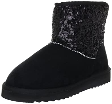 esprit uma sequins bootie ankle boots womens black schwarz black 001 size 3 5 36 eu amazon. Black Bedroom Furniture Sets. Home Design Ideas