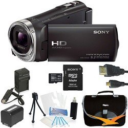 Find Cheap Sony HDR-CX330 HDR-CX330/B CX330 Full HD 60p Camcorder – Black Ultimate Bundle with 32GB High Speed Micro SD Card, Spare High Capacity Battery, AC/DC Charger, Table top Tripod, Padded Case, Micro HDMI Cable, LCD Screen Protectors, and Lens Cleaning Kit