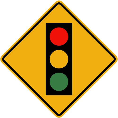 Street and Traffic Sign Wall Decals - Stop Ahead Symbol ...