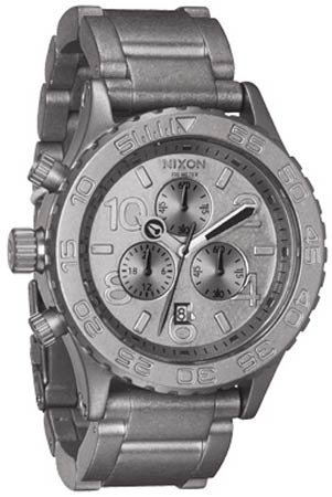 NIXON 42-20 CHRONO A0371033 LADIES STAINLESS STEEL CASE CHRONOGRAPH DATE WATCH