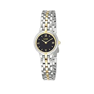 Citizen Womens Eco-Drive Silver Two-Tone Analog Quartz Watch EW9334-52E