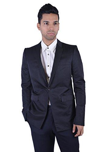 Gianni Versace Silk Black One Button Men