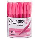 Sharpie 1741911 Accent Pink Ribbon Pocket Highlighter, Pink, 36-Pack Canister