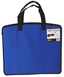Filexec Soft Touch Padded Canvas Carry All Tote, Blue, 1 Piece (34781-0)