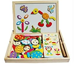 Educational Magnetic White Chalk Board Learning Easel For Kids By Instabuyz