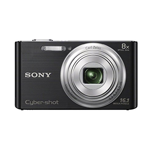 Sony DSC-W730 Digitalkamera (16,1 Megapixel, 8-fach opt. Zoom, 6,9 cm (2,7 Zoll) LCD-Display, 25mm Weitwinkelobjektiv) schwarz