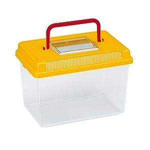 Ferplast Geo Fish Tank, Medium, 23.2 x 15.3 x 16.6 cm, 2.5 Liter, Yellow