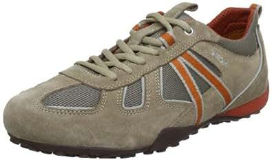 Geox U SNAKE Y U3207Y02214C0053, Herren Sneaker, Beige (BEIGE/ORANGE C0053), EU 39